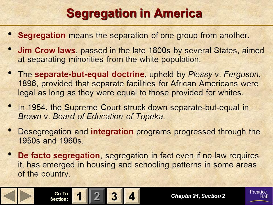 Segregation in America