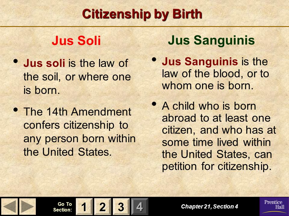 Citizenship by Birth Jus Soli Jus Sanguinis 1 2 3
