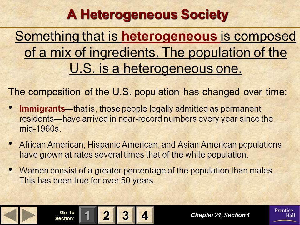 A Heterogeneous Society