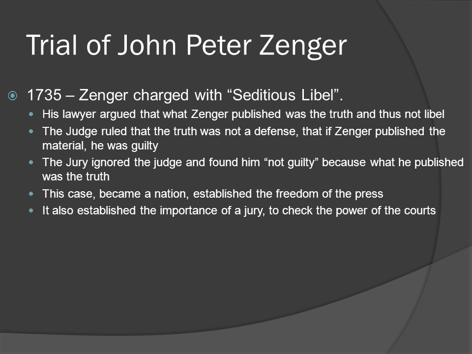 Trial of John Peter Zenger