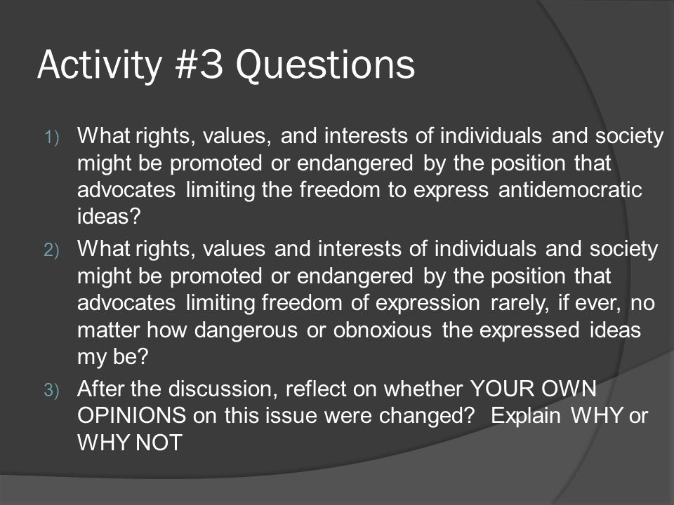 Activity #3 Questions
