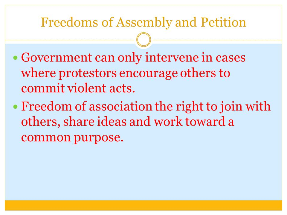 Freedoms of Assembly and Petition