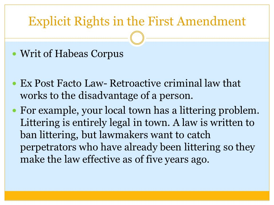 Explicit Rights in the First Amendment