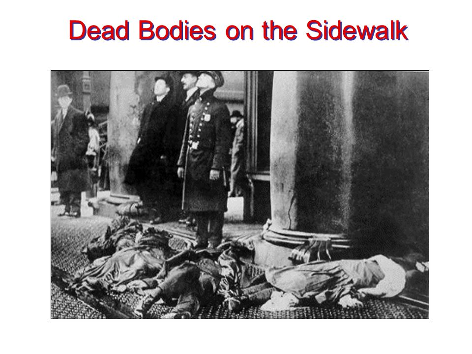 Dead Bodies on the Sidewalk