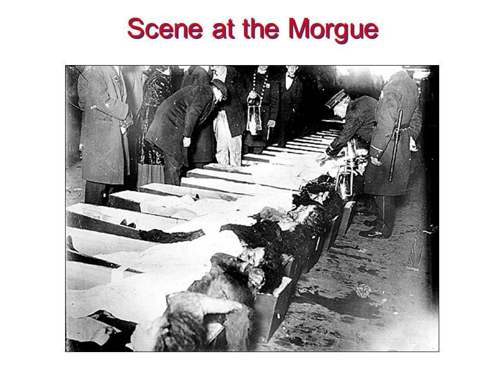 Scene at the Morgue