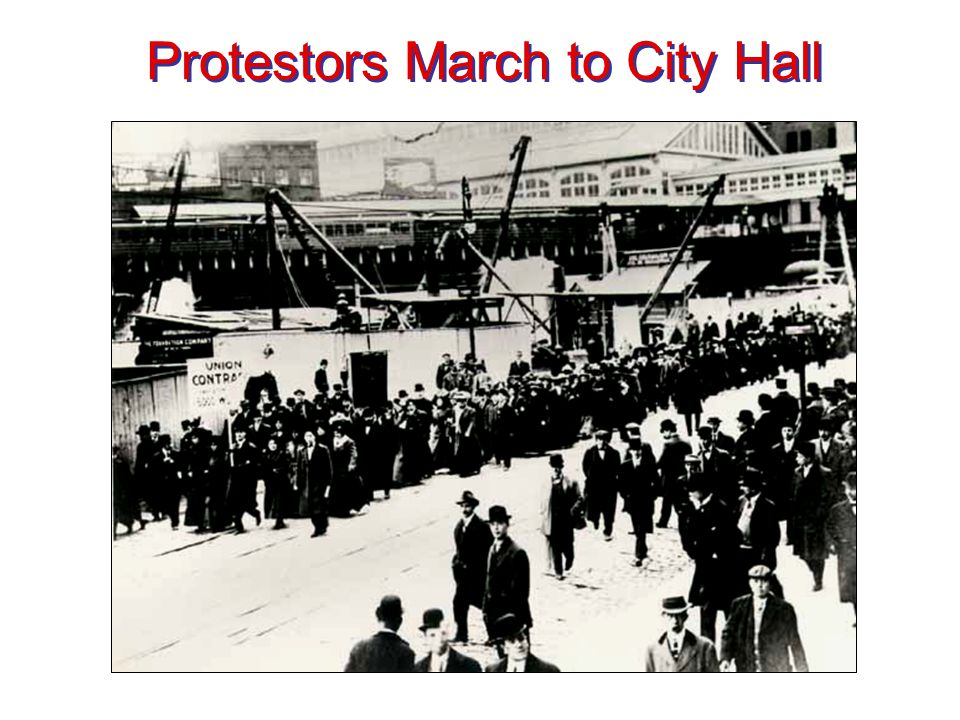 Protestors March to City Hall
