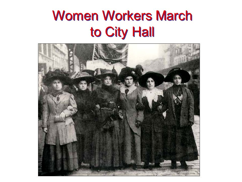 Women Workers March to City Hall