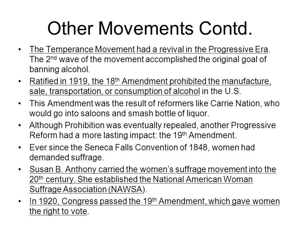 Other Movements Contd.