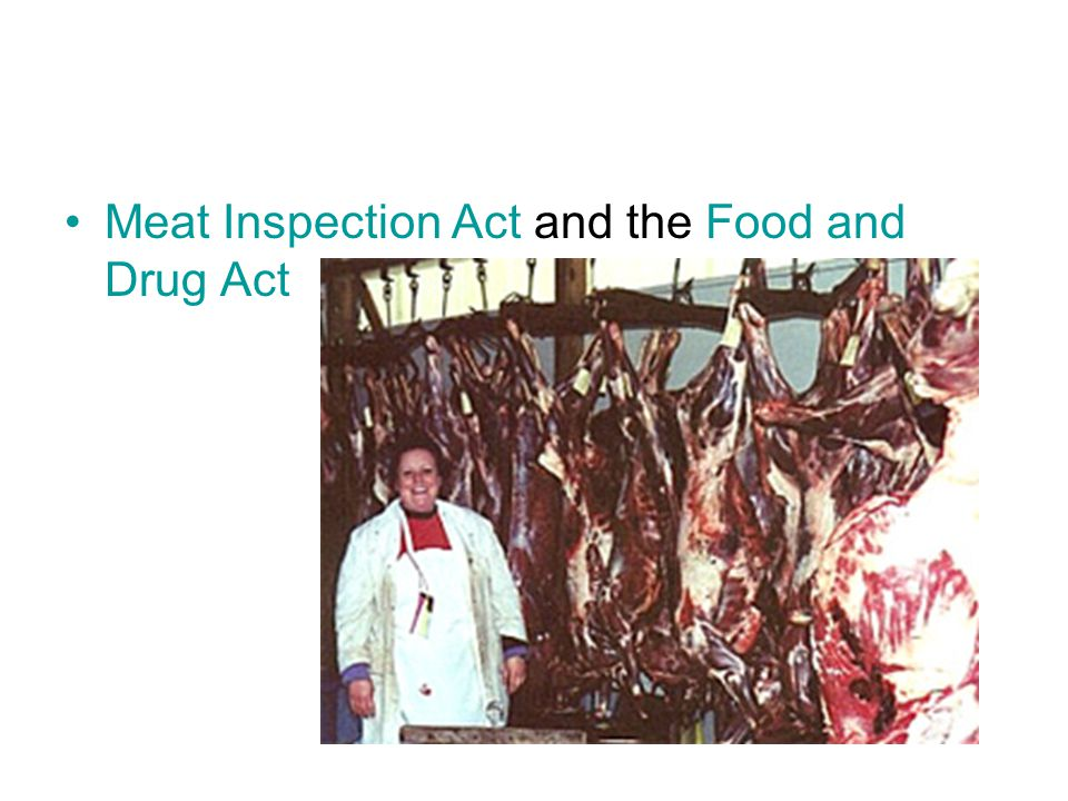 Meat Inspection Act and the Food and Drug Act