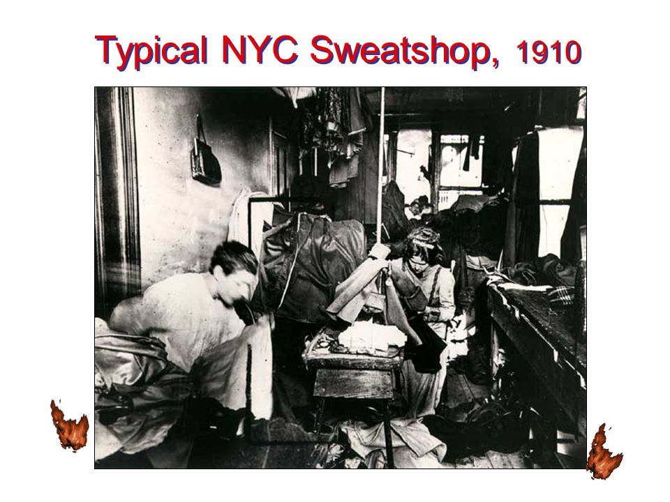 Typical NYC Sweatshop, 1910