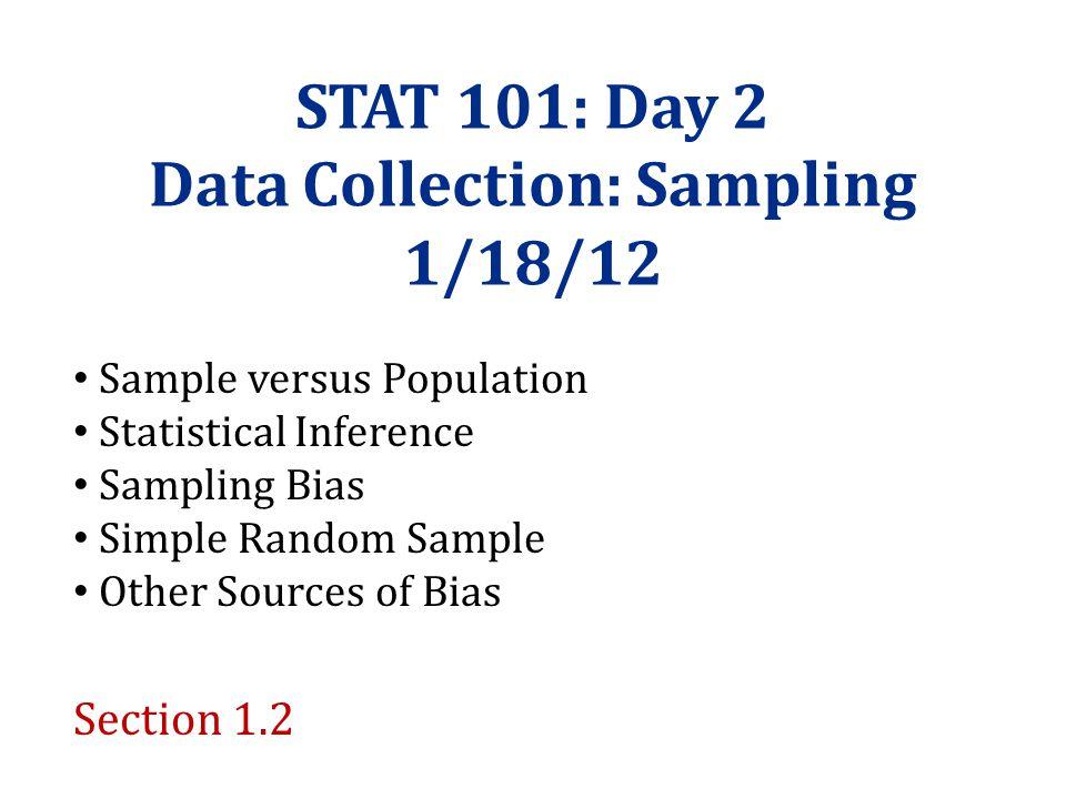 Data Collection: Sampling