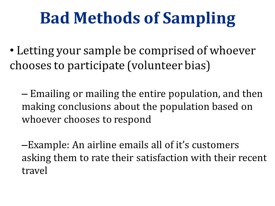 Bad Methods of Sampling