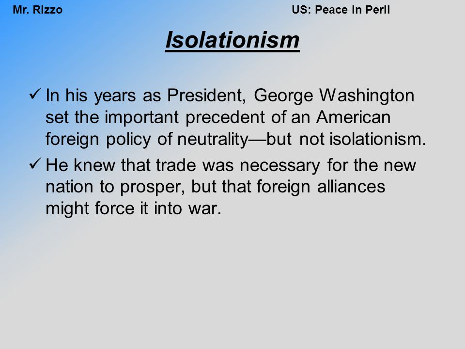 Where can you find information on George Washington's Neutrality Proclamation?