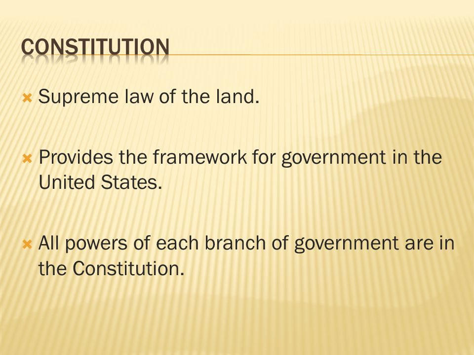 an introduction to the supreme law of the land The constitution, not the bible, is the supreme law of the land.