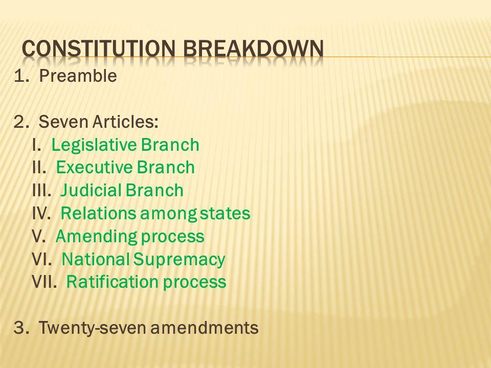 Constitution breakdown