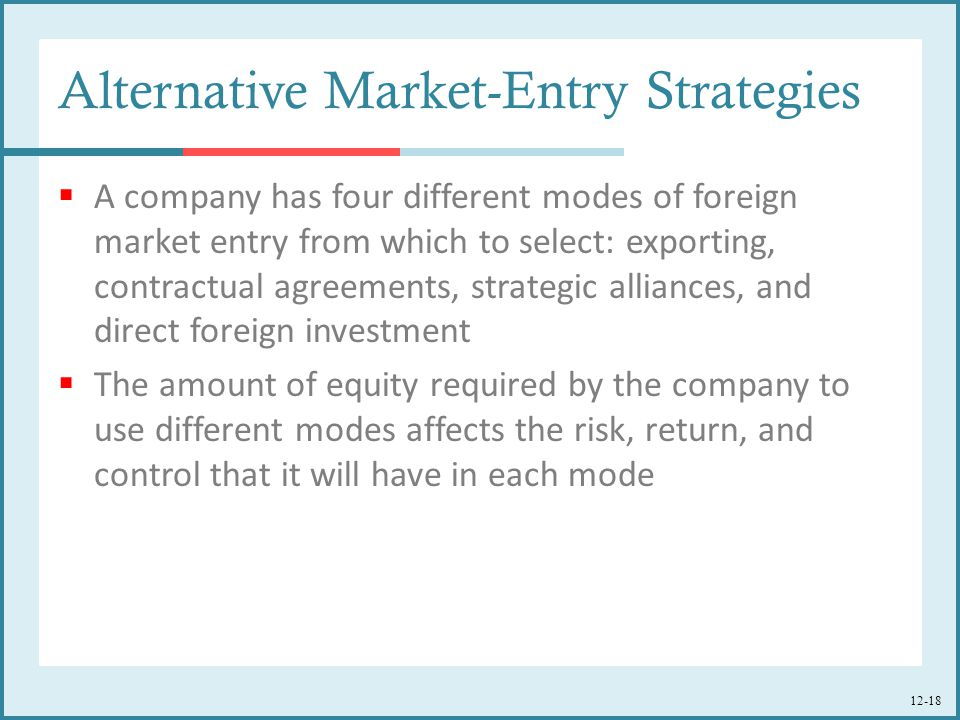 foreign market entry strategies pdf