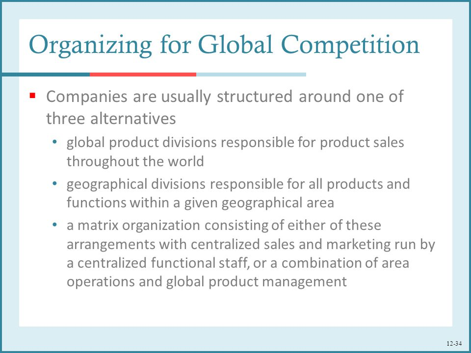 Organizing for Global Competition
