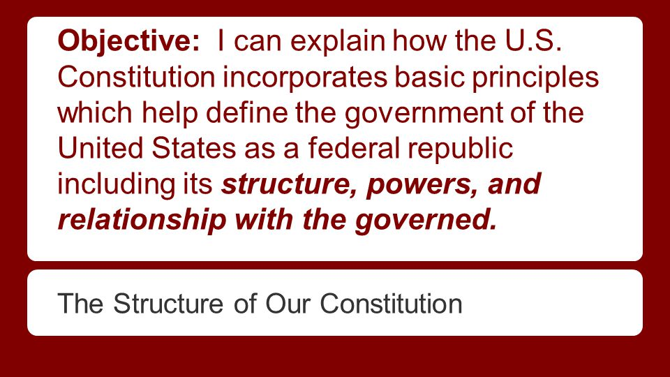 The Sections of The Constitution