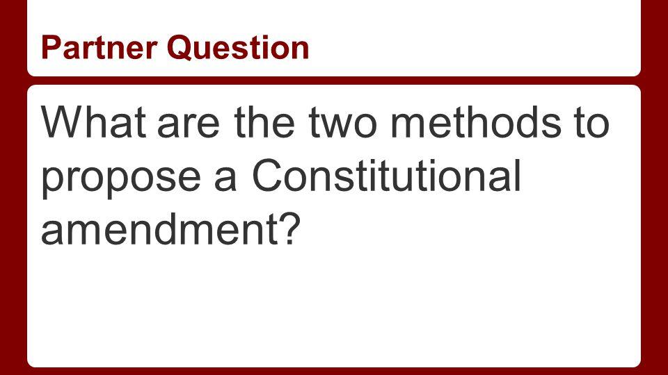 Ratifying an Amendment