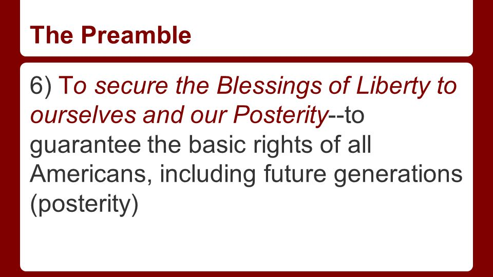 Partner Questions 1) What is the Preamble