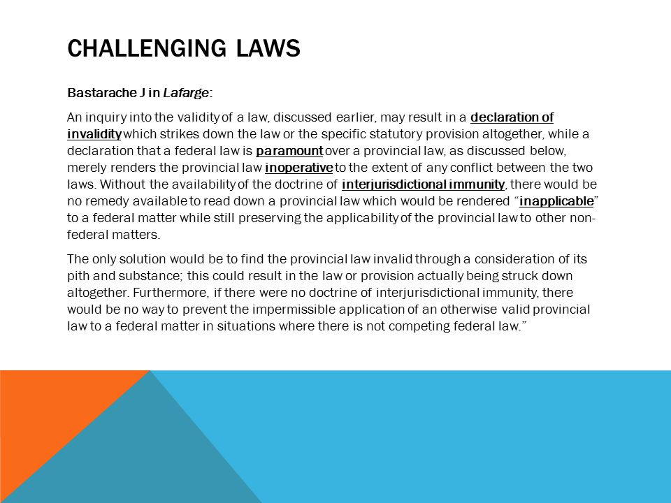 challenging laws