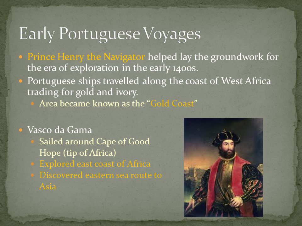 Early Portuguese Voyages