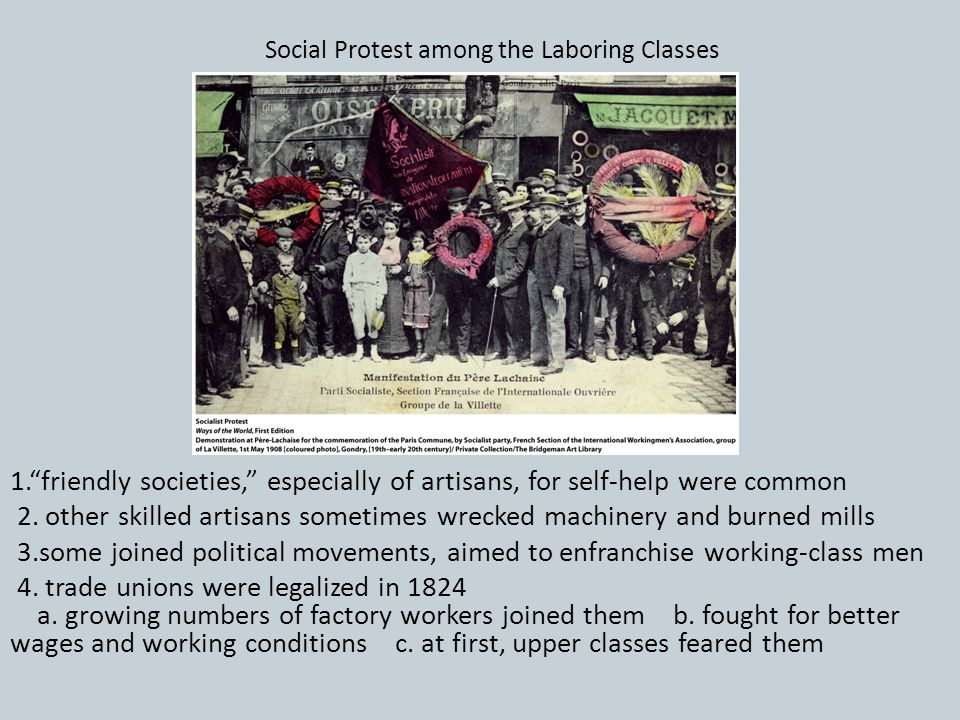 Social Protest among the Laboring Classes