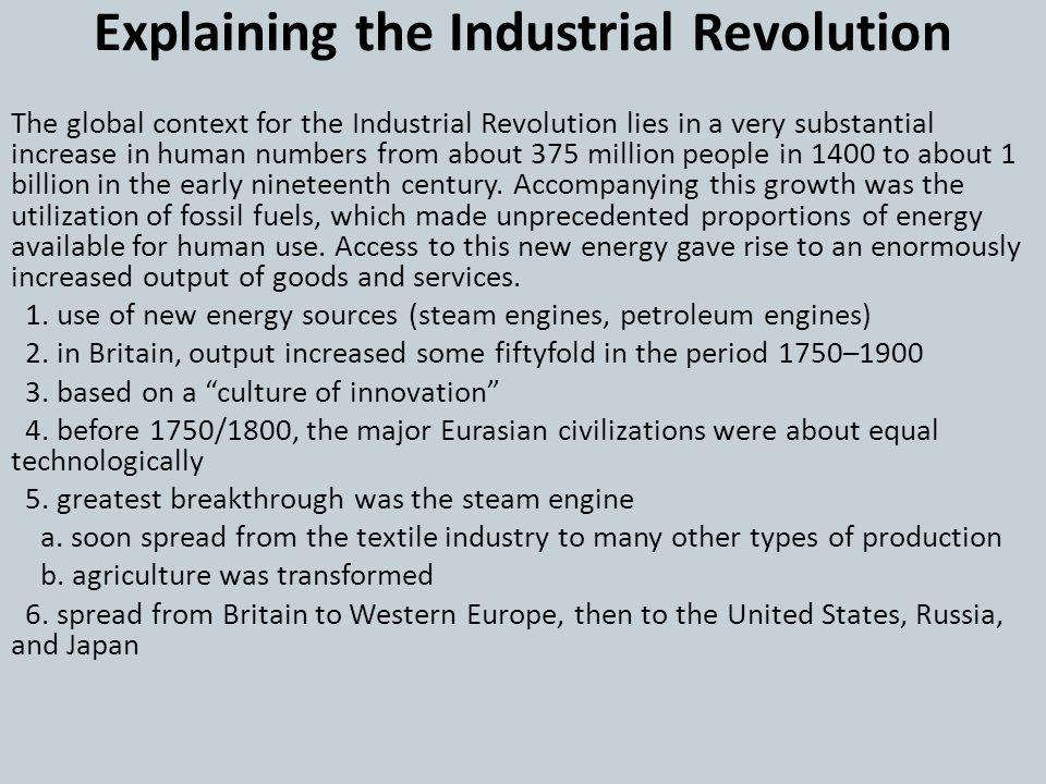 Explaining the Industrial Revolution