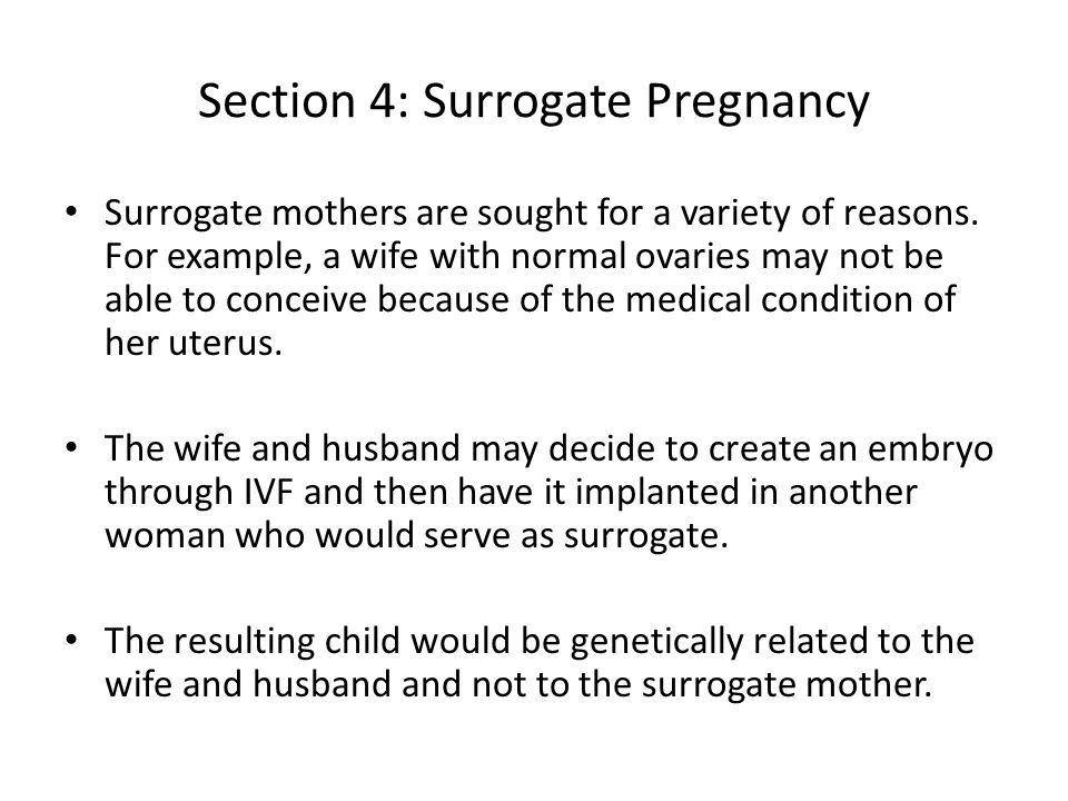 Section 4: Surrogate Pregnancy