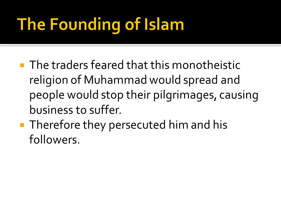 The Founding of Islam