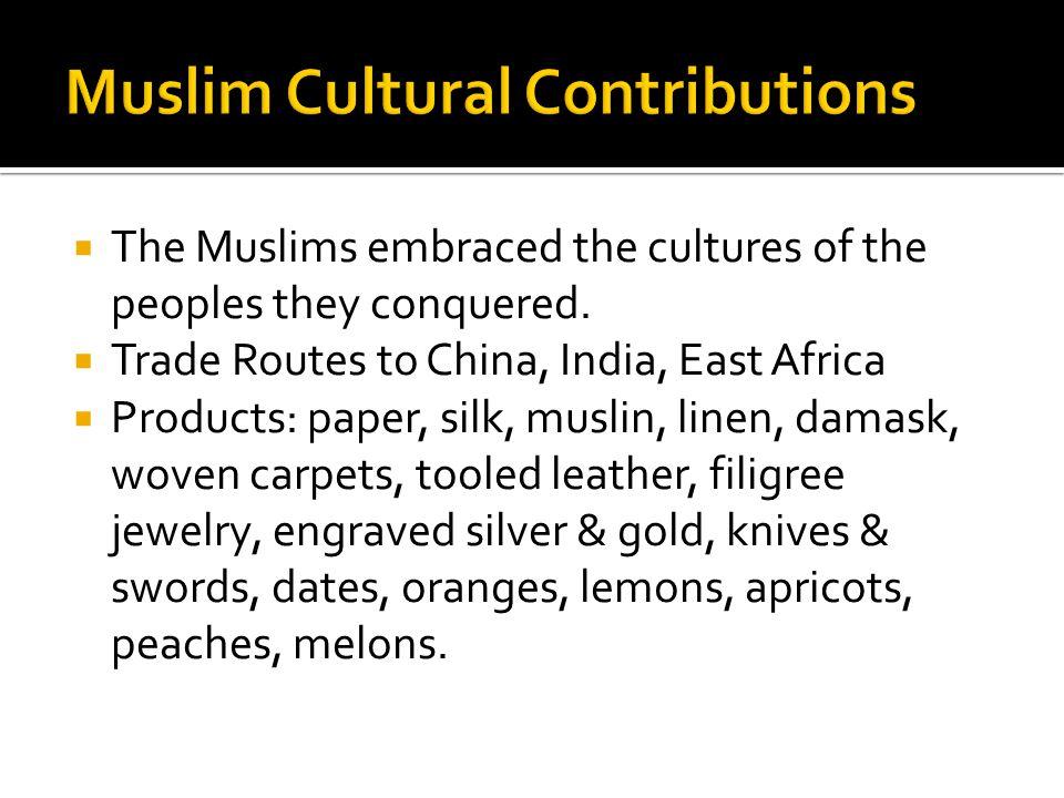 Muslim Cultural Contributions