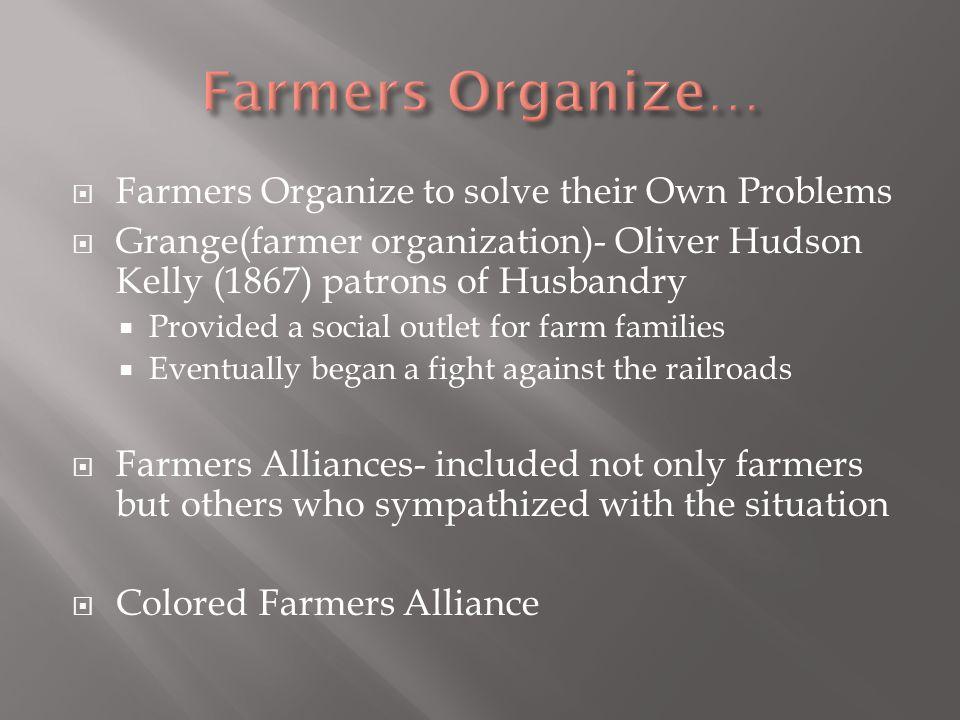 Farmers Organize… Farmers Organize to solve their Own Problems