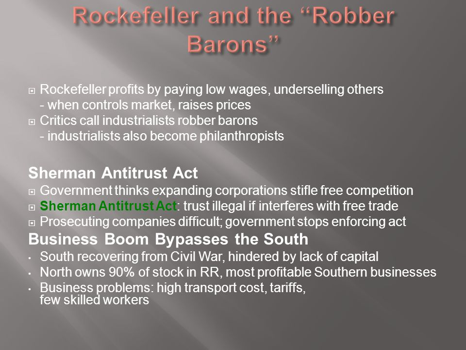 Rockefeller and the Robber Barons