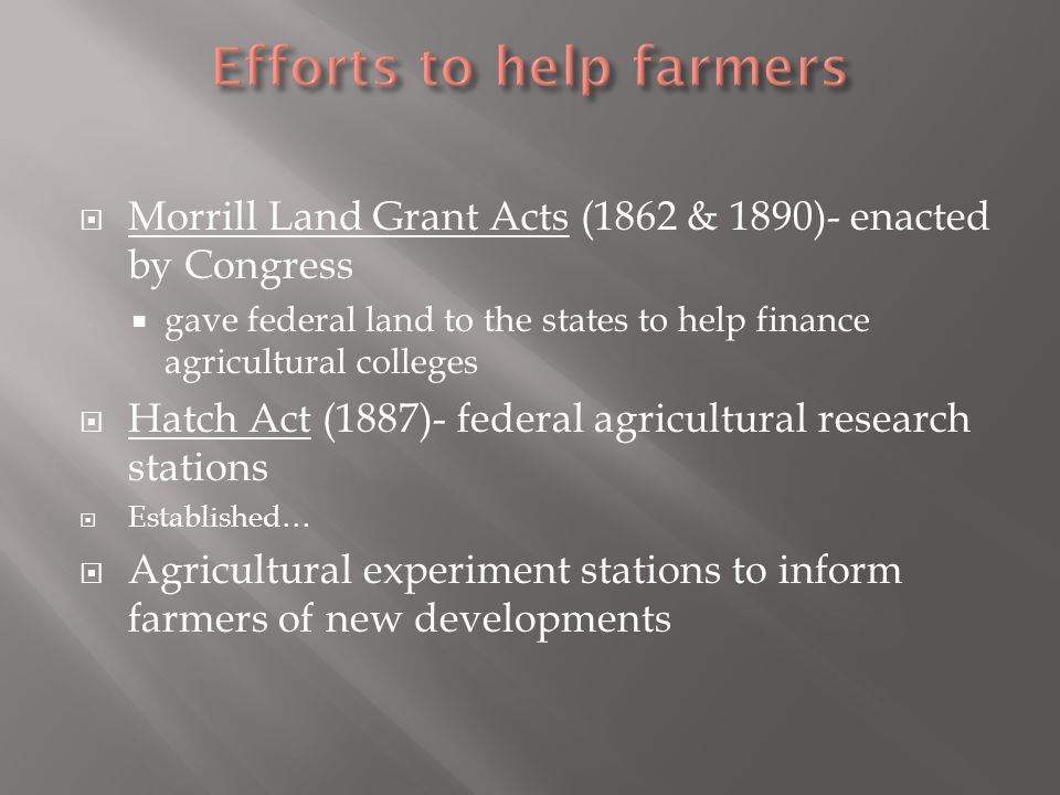 Efforts to help farmers