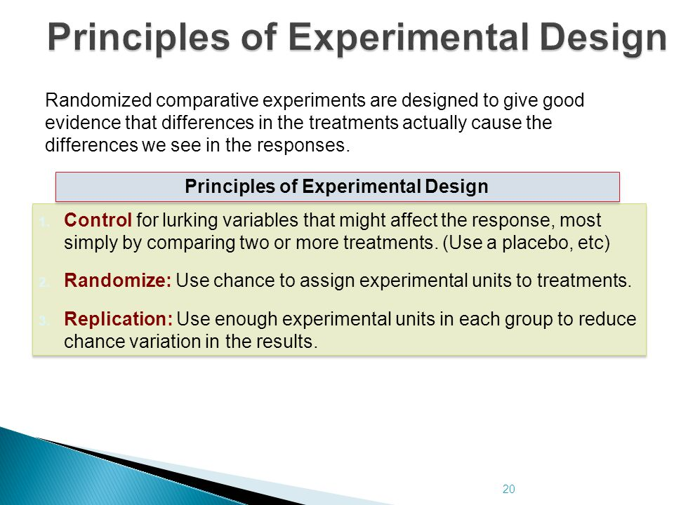 Principles of Experimental Design