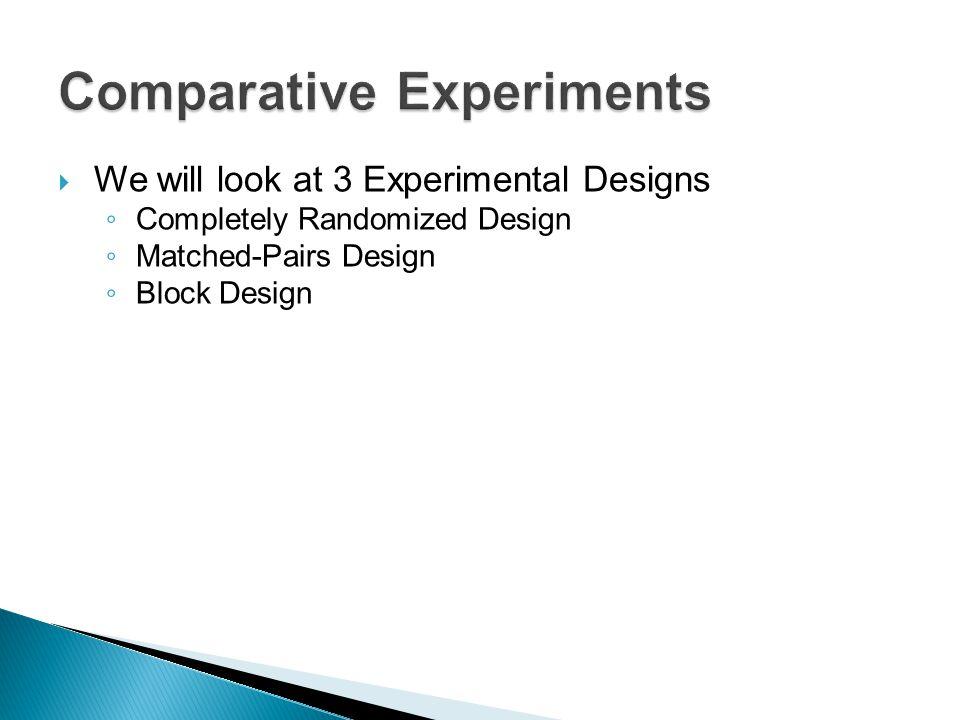 Comparative Experiments