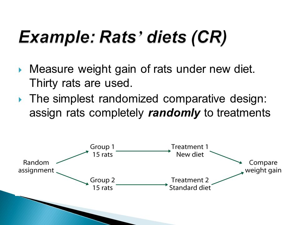 Example: Rats' diets (CR)