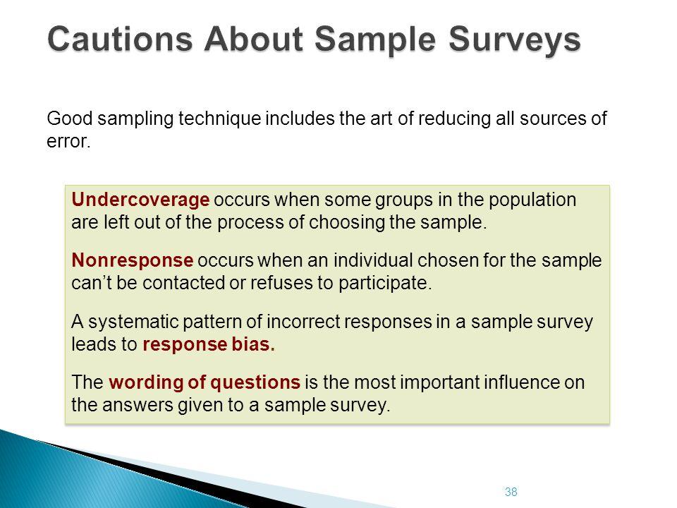 Cautions About Sample Surveys