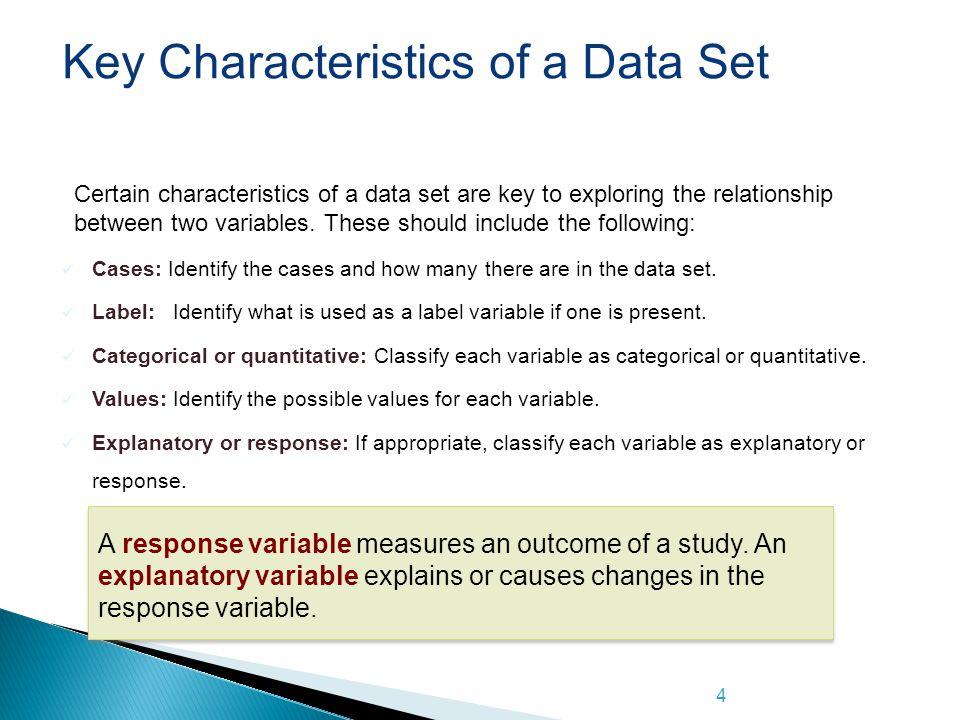 Key Characteristics of a Data Set