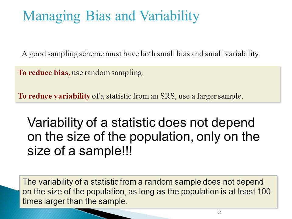 Managing Bias and Variability