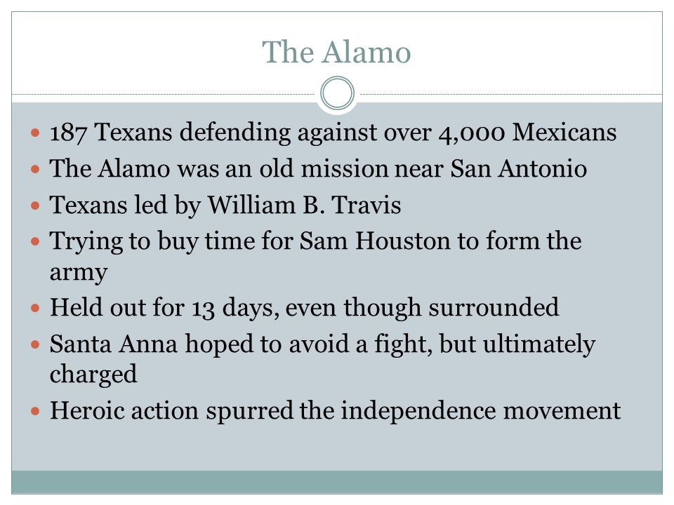 The Alamo 187 Texans defending against over 4,000 Mexicans
