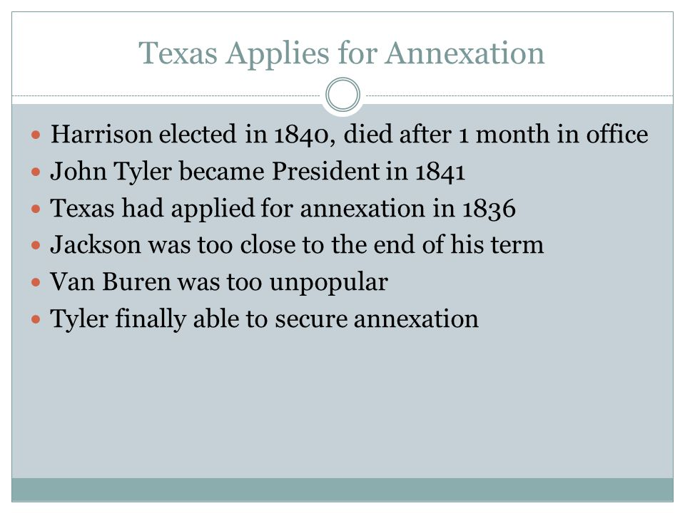 Texas Applies for Annexation