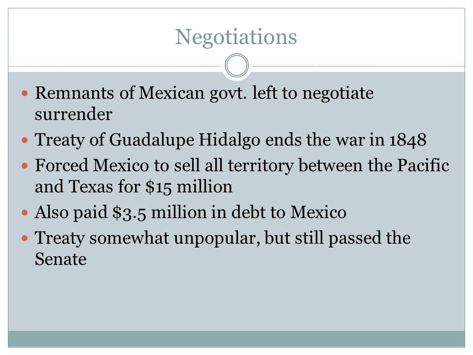 Negotiations Remnants of Mexican govt. left to negotiate surrender