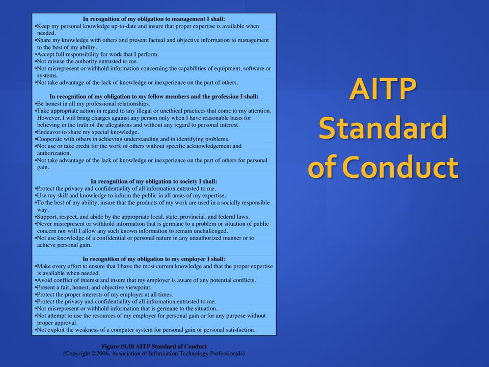 AITP Standard of Conduct