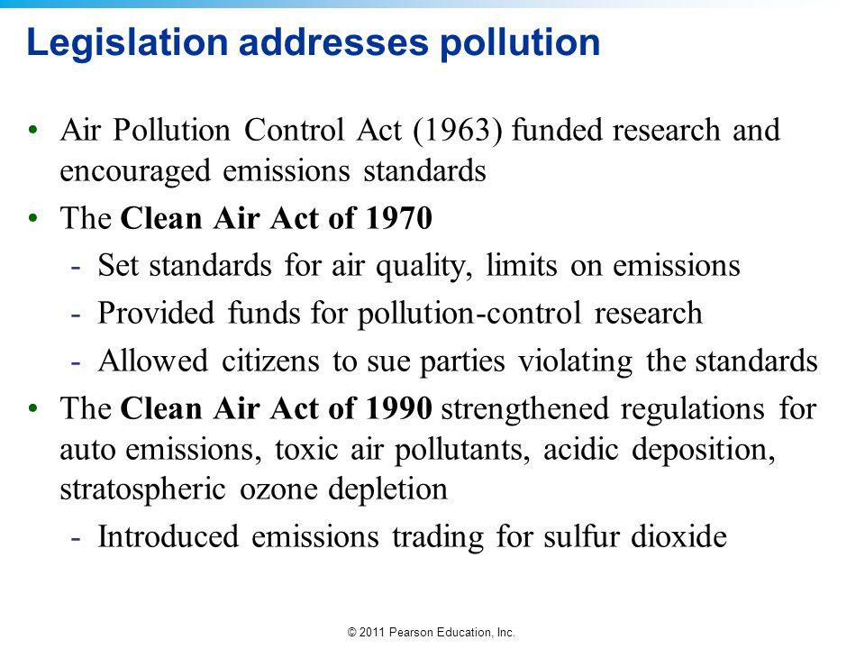 Legislation addresses pollution