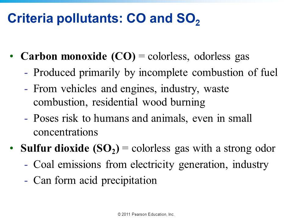 Criteria pollutants: CO and SO2