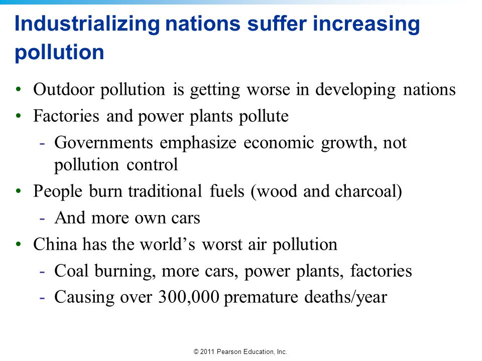 Industrializing nations suffer increasing pollution