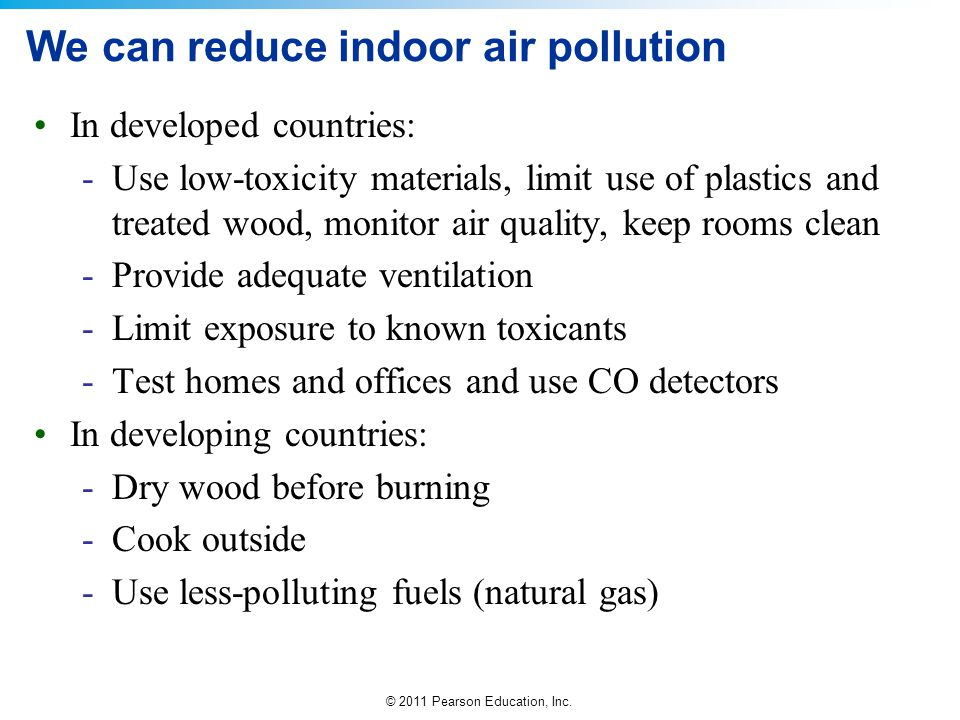We can reduce indoor air pollution