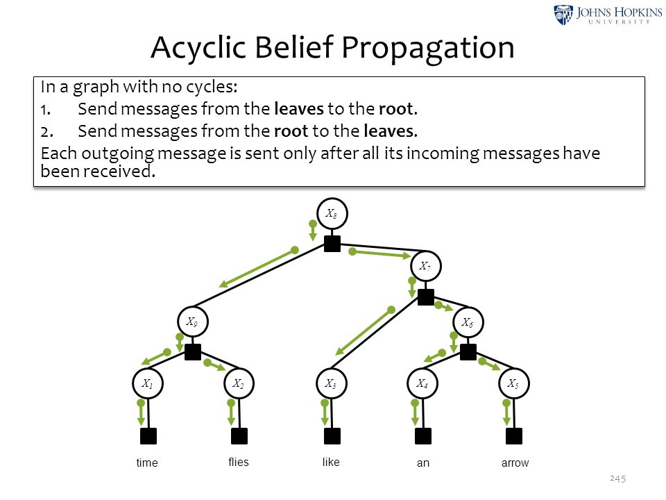 Acyclic Belief Propagation