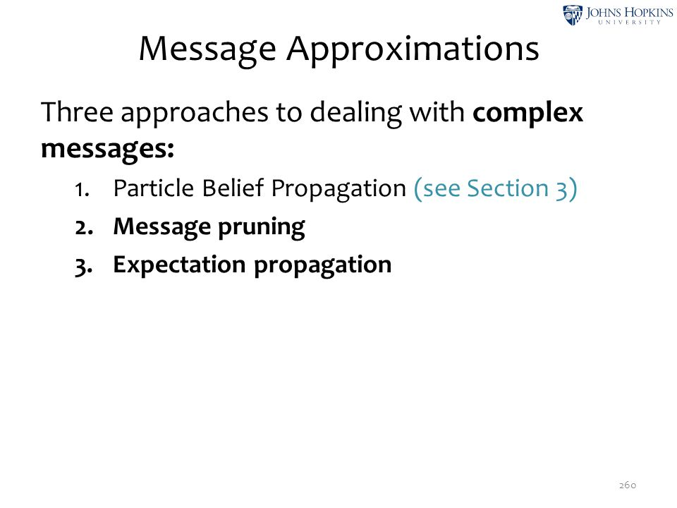 Message Approximations